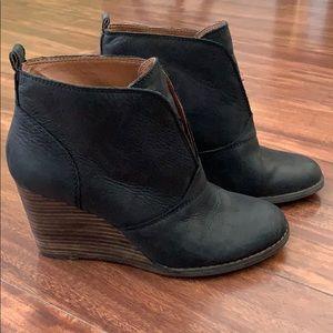 Lucky brand heeled booties